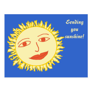 Mr Sun Customizable Text Postcard