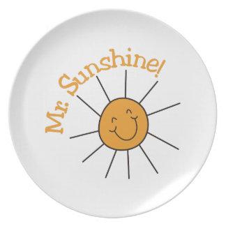 Mr. Sunshine Dinner Plates