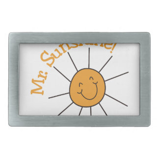 Mr. Sunshine Rectangular Belt Buckle