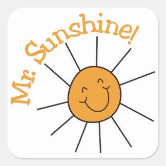 Mr. Sunshine Square Sticker