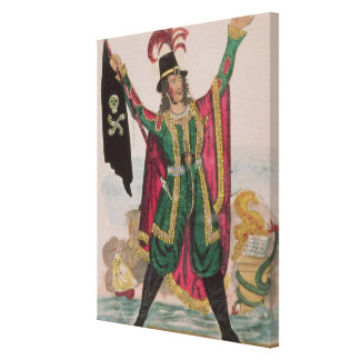 Mr.T.P.Cooke in the role of the Flying Dutchman Canvas Print