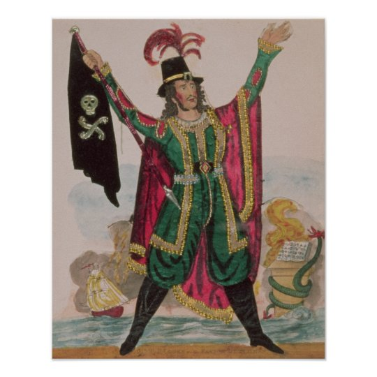 Mr.T.P.Cooke in the role of the Flying Dutchman Poster