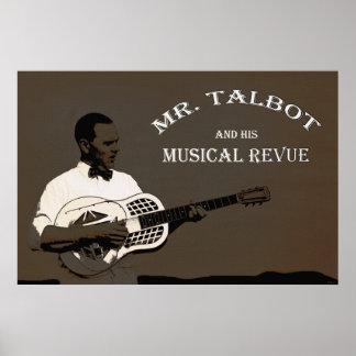 Mr. Talbot's Musical Revue 36 x 24 Poster