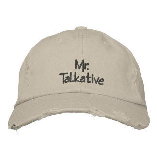 Mr Talkative Embroidered Hats