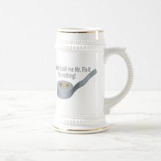 Mr Tape Fix It 18 Oz Beer Stein
