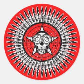 Mr Target Practice Round Sticker