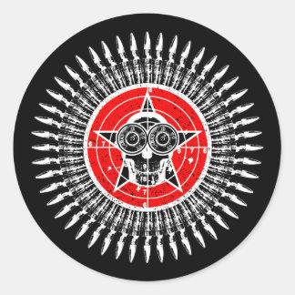 Mr Target Practice Round Stickers