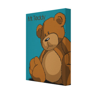 Mr. Teddy. Canvas Print