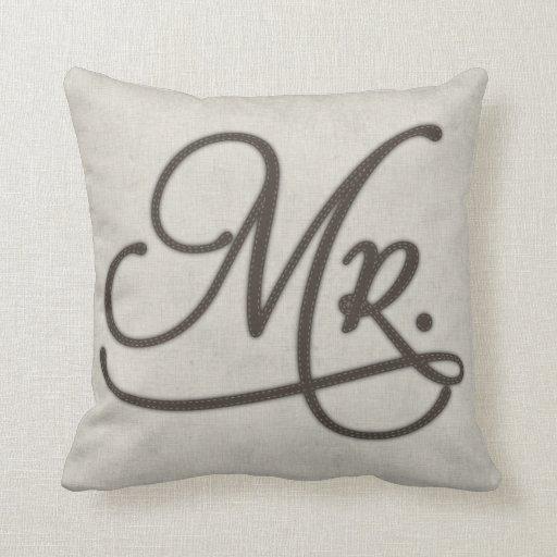 Mr Textured Throw Pillow
