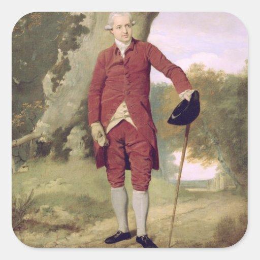 Mr Thrale, c.1770-80 (oil on canvas) Square Stickers