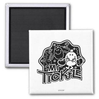 Mr. Tickle | Black & White Fun Magnet