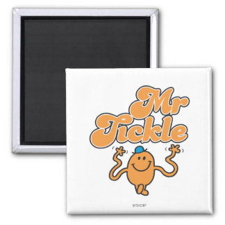 Mr. Tickle | Jiggling Arms 2 Inch Square Magnet