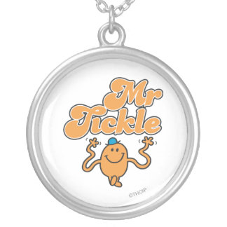 Mr. Tickle | Jiggling Arms Silver Plated Necklace