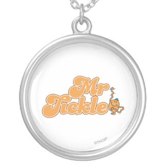 Mr. Tickle | Long Wave Hello Silver Plated Necklace