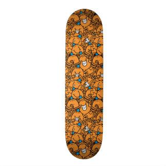 Mr Tickle | Orange Tickle Pattern Skateboard Deck
