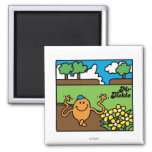 Mr. Tickle | Outdoor Fun 2 Inch Square Magnet
