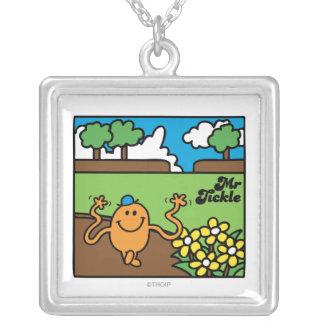 Mr. Tickle | Outdoor Fun Square Pendant Necklace
