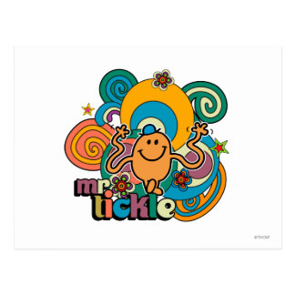 Mr Tickle Swirl Color Postcard