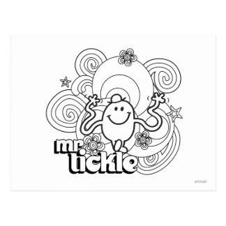 Mr Tickle Swirl Lines Postcard