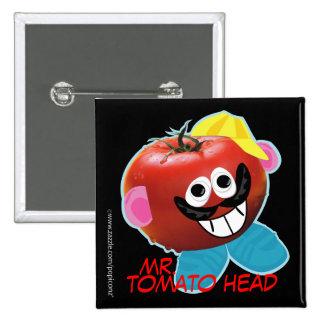 mr. tomato head humorous parody Button