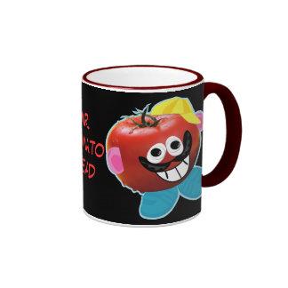 mr. tomato head humorous parody mug