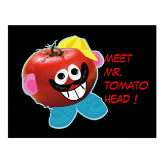 Mr Tomato head humorous parody Postcard