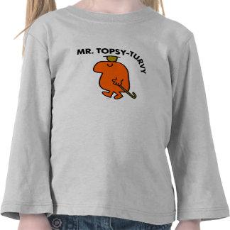 Mr. Topsy-Turvy   Upside Down Hat & Cane Tshirt