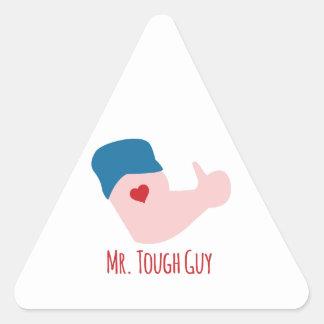 Mr. Tough Guy Triangle Sticker