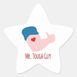 Mr. Tough Guy Star Sticker