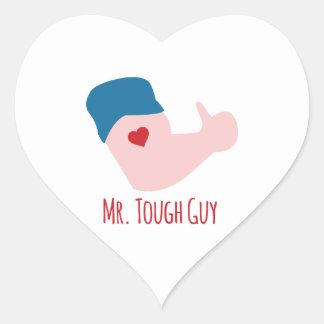Mr. Tough Guy Heart Sticker