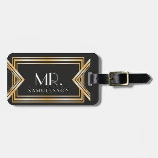 Mr. travel Luggage Tag   Gatsby inspired