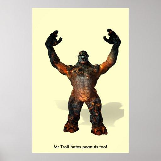 Mr Troll hates peanuts too! Poster