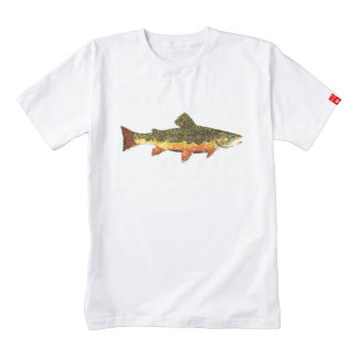 Mr. Trout Whiskers' Brookie, salvelinus fontinalis Zazzle HEART T-Shirt
