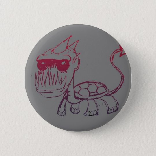Mr. Turtle Monster Pinback Button