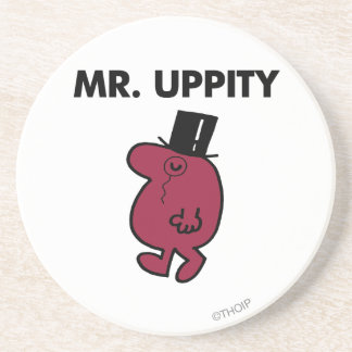 Mr. Uppity | Monocle & Top Hat Drink Coaster