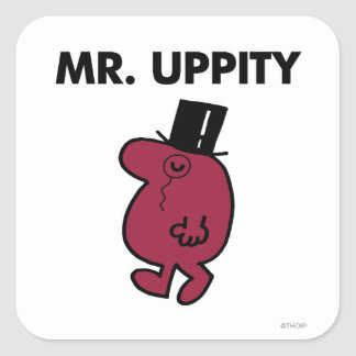 Mr. Uppity | Monocle & Top Hat Square Sticker