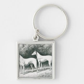 Mr. Vero Shaw's White English Terriers Silver-Colored Square Keychain