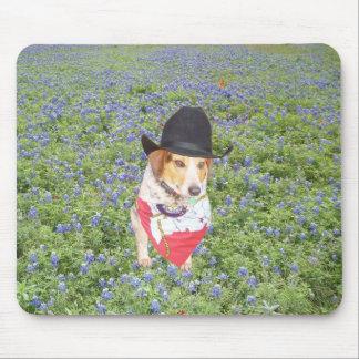 Mr. Waylon in Bluebonnets Mouse Pad