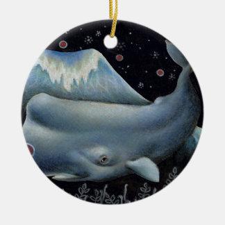 Mr Whale Ceramic Ornament