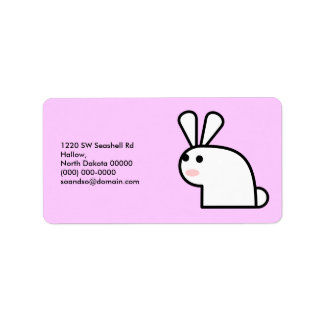 Mr. White Wabbit Address Label