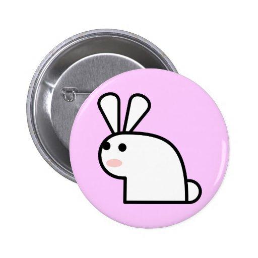 Mr. White Wabbit Button