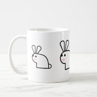 Mr. White Wabbit Mug Left-Handed