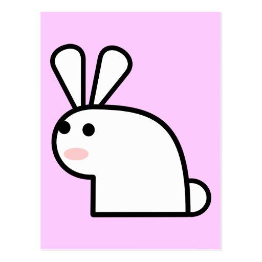 Mr. White Wabbit Postcard