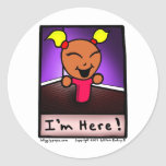 "Mr. Wigglypops Soppa Mop ""I'm Here"" Stickers"