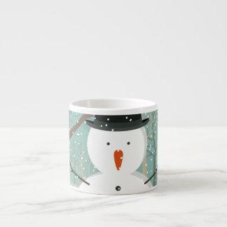 Mr. Winter Snowman Espresso Cup