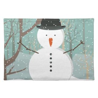 Mr. Winter Snowman Placemat