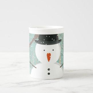 Mr. Winter Snowman Tea Cup