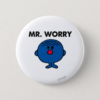 Mr Worry Classic Pinback Button