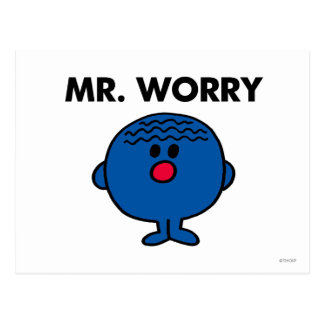 Mr Worry Classic Postcard