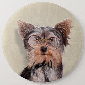 Mr. Yorkshire Terrier portrait Button